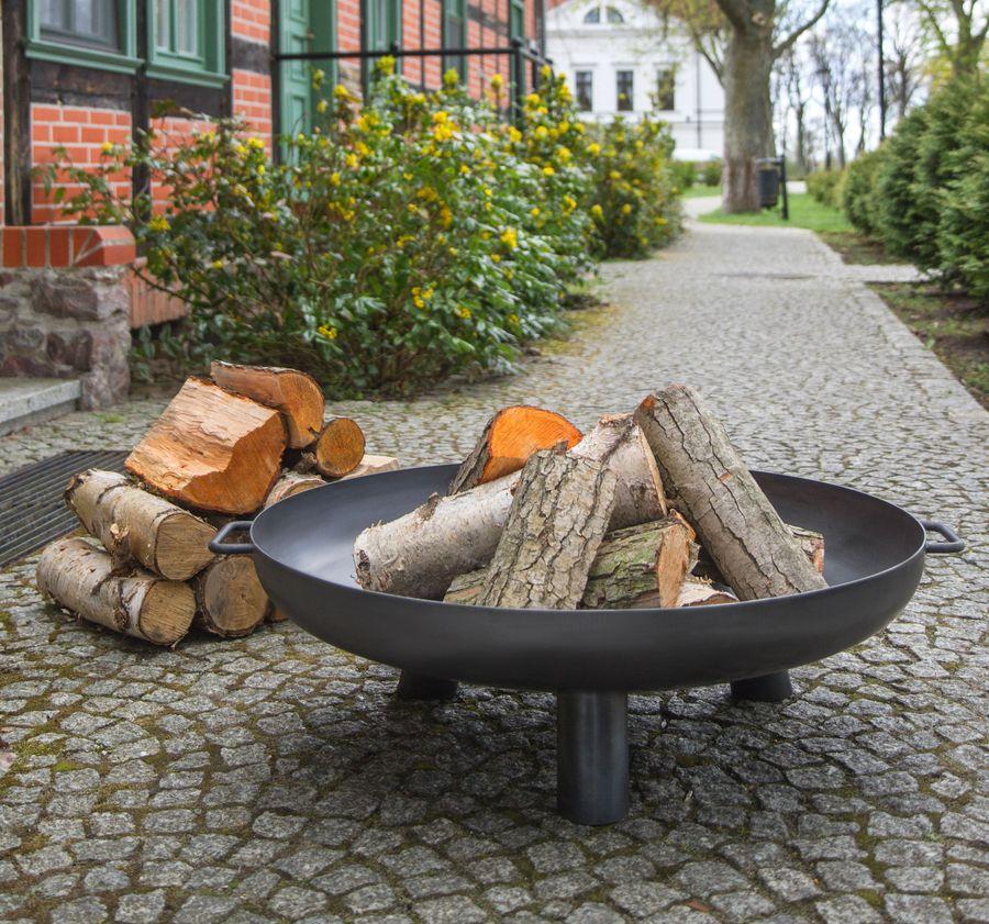 feuerschale 100cm 1000mm mit loch feuerkorb kl pperboden grill garten ebay. Black Bedroom Furniture Sets. Home Design Ideas