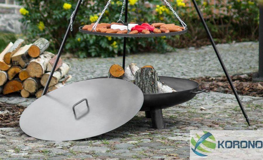 feuerschale 100cm 1000mm mit deckel feuerkorb kl pperboden grill garten ebay. Black Bedroom Furniture Sets. Home Design Ideas